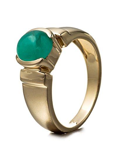 Goldancé–Women 's Ring–925スターリングシルバー、ゴールドメッキ–本物宝石:エメラルド–r8139e-gp