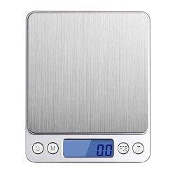 Keepjoy デジタルスケール キッチンスケール 台はかり 電子計量器 精密 計量秤 超小型 風袋機能 オートオフ機能 キッチン用 プロ用