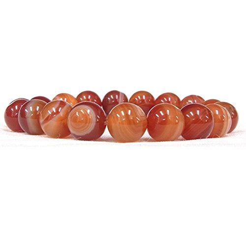 サードオニキス 10mm 天然石 ブレスレット パワーストーン 数珠ブレス 選べるサイズ (18 センチメートル)