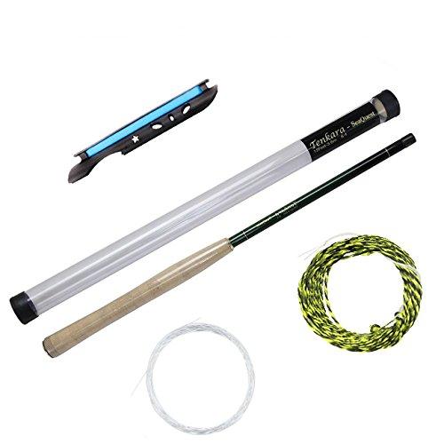 フライロッド SeaQuest tenkara rod テンカラ竿 テレスコピック テンカラロッド ポータブル炭素繊維 フライフィッシング キャスティング ポール ストレージ・チューブ … (tenkara mix, 3.6m)