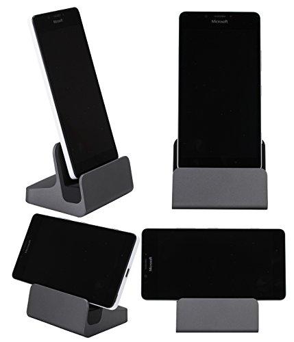 【LIHOULAI】ASUS ZenFone 3 ZE520KL 5.2inch 卓上ホルダー ASUS ZenFone 3 ZE552KL/Dual ZE552KL5.5inch 充電器 Asus Zenfone 3 Ultra ZU680KL6.8inch 充電スタンド ASUS ZenFone 3 Deluxe ZS570KL5.7inch Type-C クレードル ドック グレー