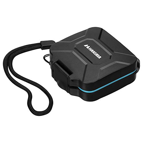 HAKUBA ハードメモリーカードケース 耐衝撃タイプ SD4枚 microSD4枚収納 ブルー DMC-22SD4BL