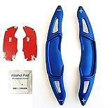 SUBARU スバル パドルシフトカバー 3Dデザイン 【5色、赤、青、黒、灰、銀】 【青】全車種 レヴォーグ アウトバック フォーレスター インプレッサ XV WRX S4