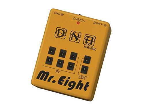 DNA MR.EIGHT / 充電式パワーサプライ 【充電式パワーサプライ特集】充電式でノイズを減らしエフェクターボードが軽くなる、小さくて安いオススメ電源!