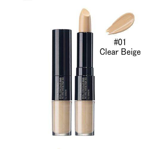 ザセム カバーパーフェクション アイディアル コンシーラー デュオ/(the saem ザセム) Cover Perfection Ideal Concealer Duo (4.2g+4.5g) 3 Color (#1 Clear Beige) [並行輸入品]