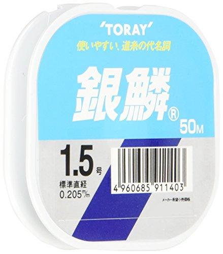 東レ(TORAY) ナイロンライン 1.5号 50m 銀鱗 ナチュラル