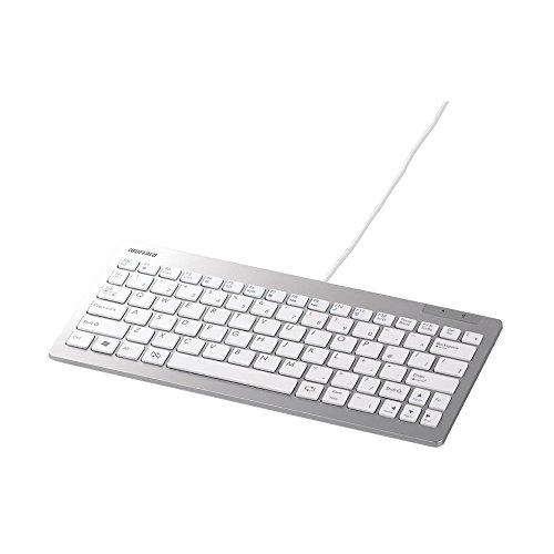 iBUFFALO 有線コンパクト&スリムキーボード ホワイト BSKBU13WH