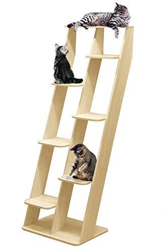 ottostyle.jp キャットタワー キャットシェルフ インテリア調 猫タワー おしゃれ 運動 棚 立てかけ 据え置き (本体, ナチュラル)