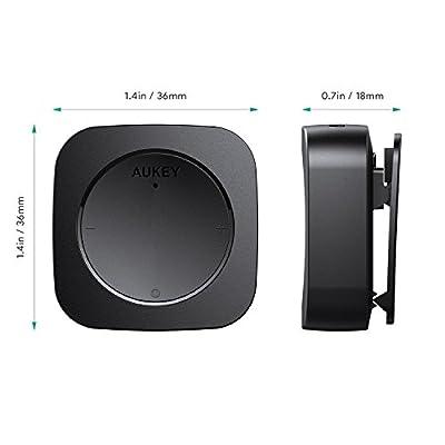 AUKEY Bluetoothレシーバー ブルートゥースオーディオレシーバー 3.5mmミニプラグ接続 クリップ付き BR-C13