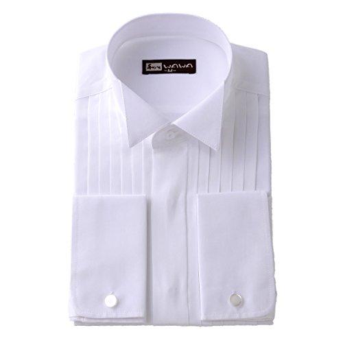 (ワワジャパン)WAWAJAPAN 結婚式に使えるウイングカラーシャツ LL K-3(ダブルカフス)