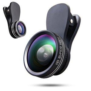 YIEASY スマホ用カメラレンズ クリップ式レンズ 3点セット 魚眼レンズ 広角レンズ マクロレンズ 自撮りレンズ カメラレンズキット 全機種対応 簡単装着