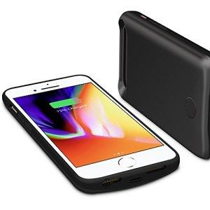 iPhone 8 / iPhone 7バッテリー内蔵ケース、Techkey 5000mAh ケース型バッテリーfor iPhone 6s / iPhone 6 通用 4.7 インチ、急速充電 大容量 バッテリーとケース一体型両用