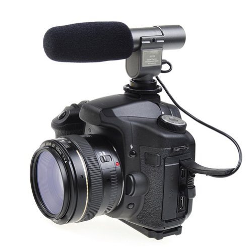 Neewer® SG-108 ステレオマイクロフォン ビデオカメラ/DV用 Canonキャノン EOS 1D Mark IV 5D Mark II III 7D 70D 60D Kiss X5 Kiss X6i Kiss X7i Kiss X4 Nikonニコン D800 D800E D600 D7100 D5200 D7000 D300s D3s Pentaxペンタックス K-7 K-5に対応