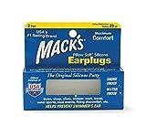 Mack's Pillow Soft Silicone Earplugs ソフトシリコン耳栓 2ペア入り 5EP 【正規輸入品】