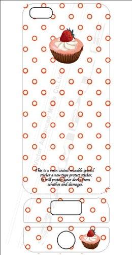 ビクターアドバンストメディア iPhone5/5S デザイナーズデコレーションシール KL-I5CAKE-DS