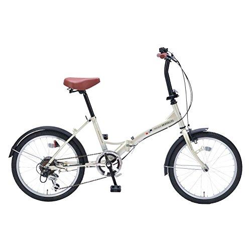 My Pallas(マイパラス) 折りたたみ自転車 M-209 20インチ 6段変速 アイボリー