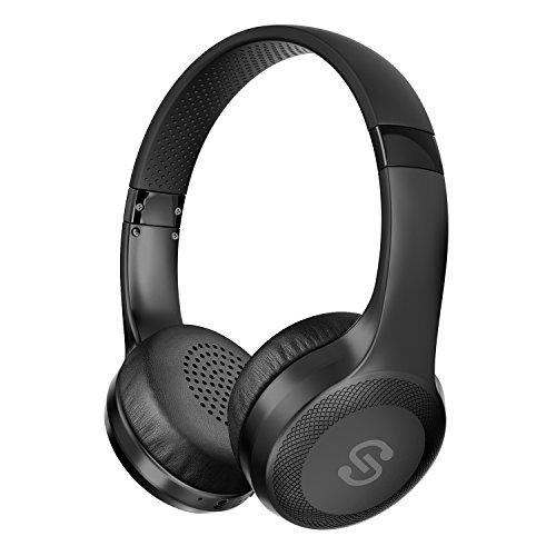 SoundPEATS(サウンドピーツ) A1 Pro Bluetooth ヘッドホン 高音質 AACコーデック対応 ワイヤレス&有線両用 [メーカー1年保証] 最大25時間再生 40mm大口径ドライバー CVCノイズキャンセリング搭載 マイク付き ハンズフリー通話 ブルートゥース ヘッドホン Bluetooth イヤホン ワイヤレスヘッドホン ブラック