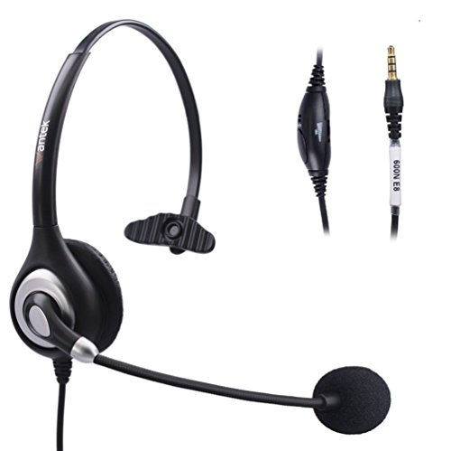 Arama  3.5mm  ヘッドセット   iPhone  Sumsung  携帯電話用  マイク付き  片耳  ヘッドホン