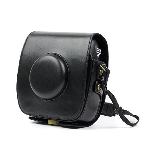 FUJIFILM Instax SQ10 専用ケース FUJIFILM Instax SQUARE SQ10 Hybrid Instant Cameraに対応 PUレザー製 カメラケース 調節可能なストラップ付き (黒色)