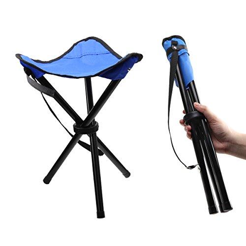 IDEAPRO折りたたみ椅子 ウルトラライトチェア コンパクトアウトドアチェアキャンプ イス 軽量 専用収納バッグ付き (三脚チェア)