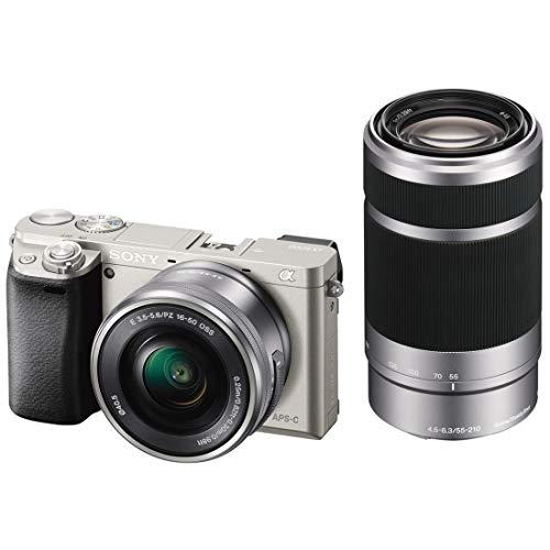 SONY ミラーレス一眼 α6000 ダブルズームレンズキット E PZ 16-50mm F3.5-5.6 OSS + E 55-210mm F4.5-6.3 OSS付属 シルバー ILCE-6000Y-S