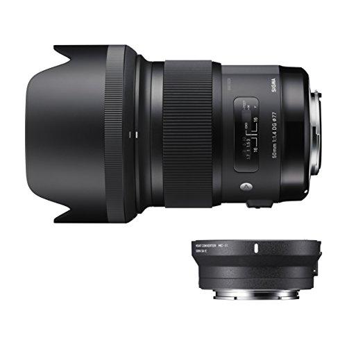 SIGMA Art 50mm F1.4 DG HSM キヤノン用 & マウントコンバーター MC-11 EF-E用 レンズキット