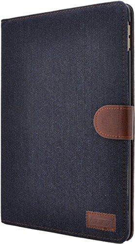 PLATA iPad アイパッド Pro プロ 9.7インチ 用 デニム デザイン スタンド ケース ポーチ 手帳型 カバー 【 インディゴ 】 IPDP97-63-A