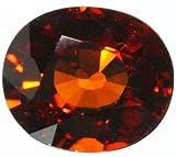 スペサルタイトガーネット 1.3ct6.8×5.8mmルースNo27701