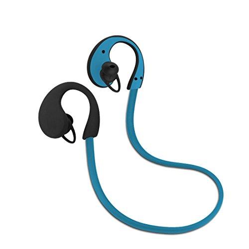 Imarku Bluetooth 4.0 スポーツイヤホン 正規品 メーカー1年保証 ワイヤレスステレオヘッドセット 防汗機能付き マイク内蔵 高音質 防汗 防滴 ランニング ジョギング用 ハンズフリー 通話可能 ブラック グリーン ブルー 3色 技適認証済 iphoneandroidなど対応 ブルー