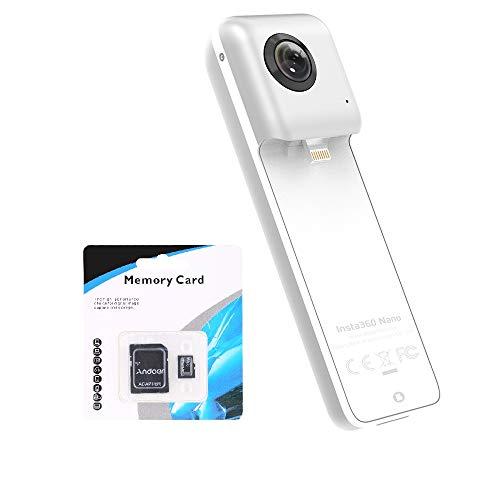 INSTA360 Nano 360°全天球パノラマ式カメラ 超HD3K 3040x1520高解像度 デジタルカメラ 二つの超広角魚眼レンズ 210°+ 210° VR体験 iPhone 6 /iphone 6 plus /iphone 6s / iphone 6s plusに対応