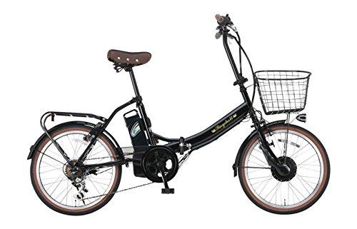 Raychell(レイチェル) 20インチ 折りたたみ 電動自転車 FB-206R-EA 6段変速 グリップシフト フロントLEDライトブラック [メーカー保証1年]
