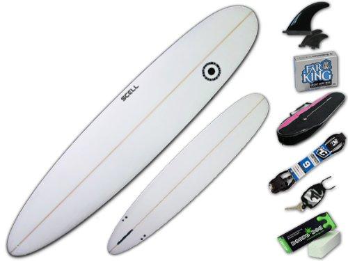 ロングボード9'0 クリアセット●サーフボード◆SCELL サーフィン 初心者7点SET ステップアップモデル