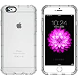 iPhone6s ケース / iPhone6 ケース 4.7インチ 用 防塵キャップ付き TPU角強化保護 保護カバー 一体型 ソフト クリアケース カバー 透明-iphone6/6s