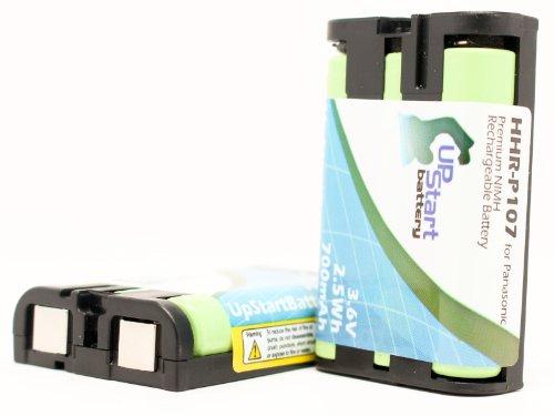 2xパック - Panasonic KXTG3034B 互換バッテリー : Panasonic HHR-P107 電話 バッテリー対応 700mAh 3.6V ニッケル水素