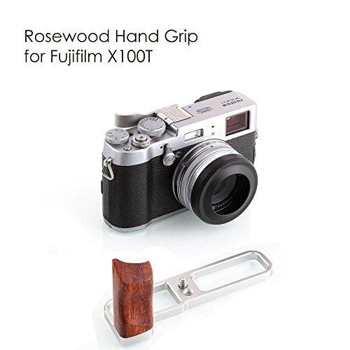 KAMERAR ローズウッド ハンドグリップ FOR FUJIFILM X100T (シルバ)