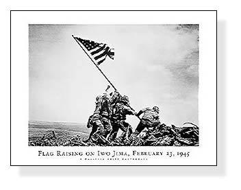 ポスター ジョー ローゼンタール 硫黄島の星条旗