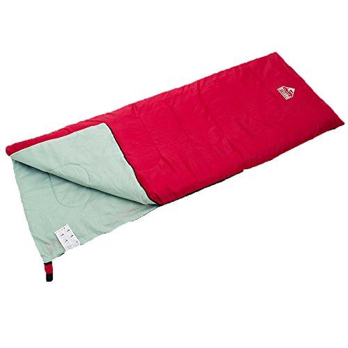 Heth 丸洗いできる封筒型寝袋 シュラフ コンパクト式簡単に収納できる 軽量 防水 防災 (レッド)