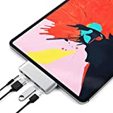 Satechi アルミニウム Type-C モバイル Proハブ USB-C PD充電 4K HDMI USB 3.0 3.5mm ヘッドホンジャック (2018 iPad Pro, Microsoft Surface Go対応) (シルバー)