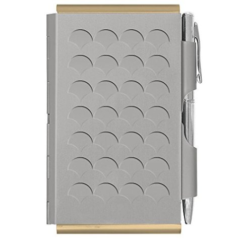Flip Note (フリップノート) メモ帳 軽量 ペン付ノートパッド ダブルフリップノート シルバースケール