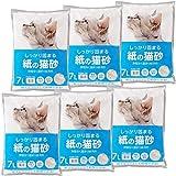 [Amazon限定ブランド] Smart Basic 紙の猫砂 7L×6袋 (ケース販売)