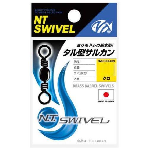 NTスイベル(N.T.SWIVEL) タル型サルカン クロ # 22