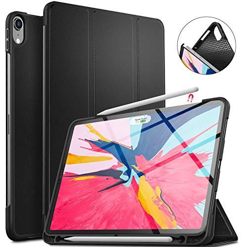 ELTD ipad pro 11 ケースソフトカバー 2018秋 ipad pro 11カバー ペンビットを付き Apple Pencil給電もペアリングもでき スタンド機能付きカバー ブラック