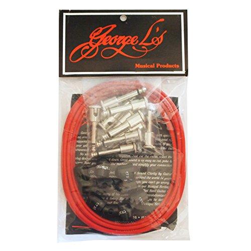 George L's ジョージエルス .155 Effect Kit Vintage Red 【最新ソルダーレス ケーブル特集】シールドがハンダ付け しないで差し込むだけで簡単に作れる!エフェクターボードに最適でオススメ!