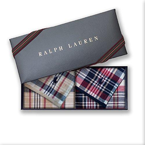 ラルフローレン 【RALPH LAUREN】タオルハンカチ2枚セットwithギフトボックス 1010・エドガータウンマドラスガーゼ