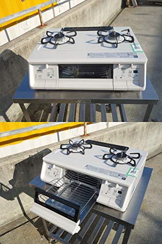 Paloma(パロマ) ガステーブル 水無し両面焼 都市ガス用 左強化力バーナー ナチュラルホワイト PA-360WHA-L