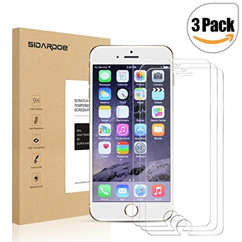 SIDARDOE 3枚入り 液晶保護 フィルム iPhone 6 plus 硬度9H 強化ガラス Apple