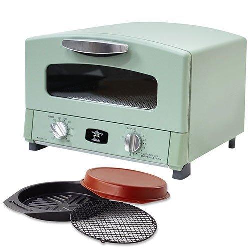 ◎【グリルロースター コンパクト オーブントースター】 Aladdin グリル&トースター グリーン(B612-S1)