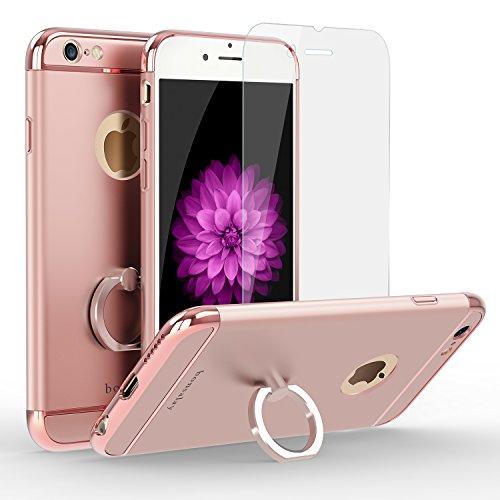 iphone 6 iphone 6s ケース スタンドリング付き 360°専用 ケース 耐衝撃 3パーツ式 アイフォン6s iPhone6 ケース カメラ保護 アイフォンケース