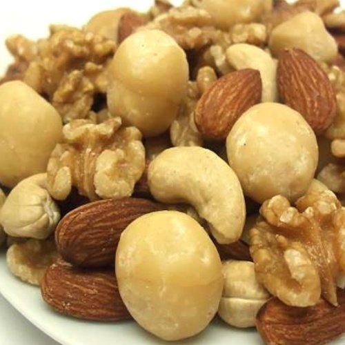【新鮮・高品質・自慢の美味さ】無塩・無油・完全無添加 4種類の素焼ミックスナッツ(くるみ入り) 2kg (1kg×2袋)