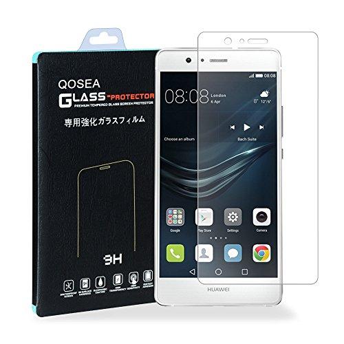 Huawei P9lite 強化ガラスフィルム【Qoosea】Huawei P9 Lite液晶保護フィルム 硬度9H 指紋防止 飛散防止 超薄0.3mm 2.5D ラウンドエッジ加工Huawei P9lite 強化ガラスフィルム